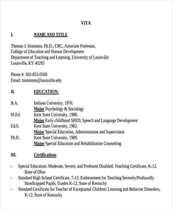 special education administration resume1