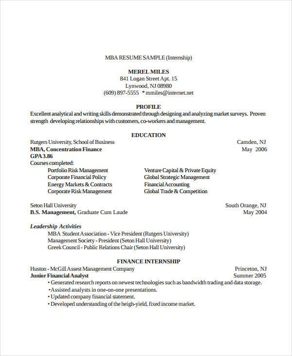 17  finance resume templates