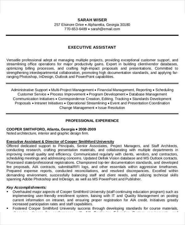 it executive assistant resume2