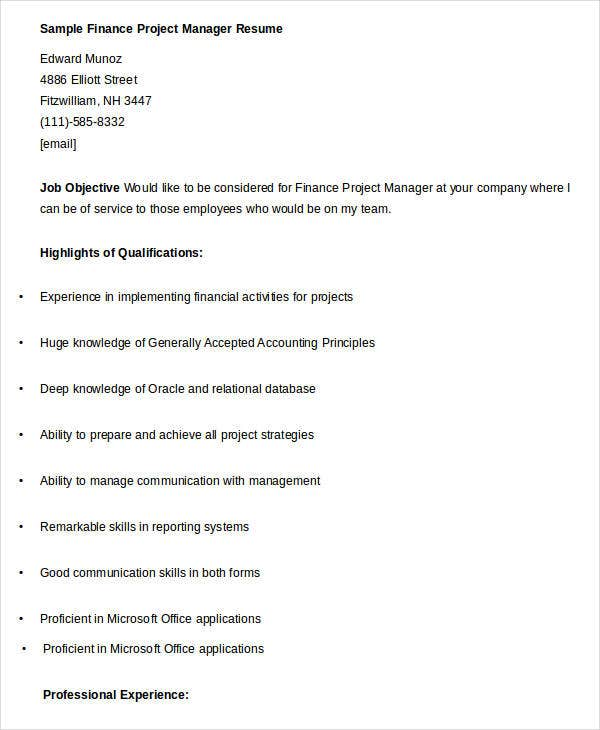 100 oracle project manager resume it manager resume