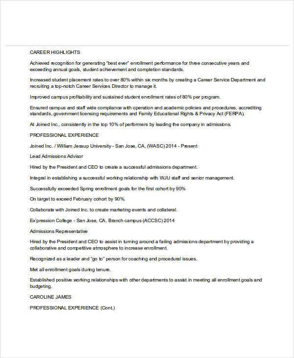 15 professional education resume templates pdf doc free