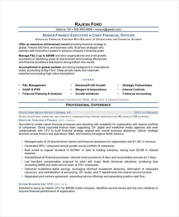 sle resume for senior finance executive 28 images 28