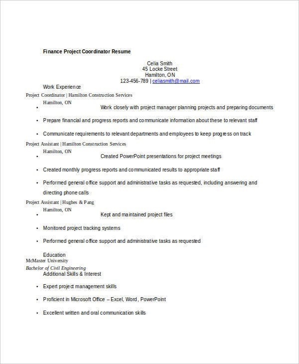 Basic Finance Resume - 47+ Free Word, Pdf Documents Download