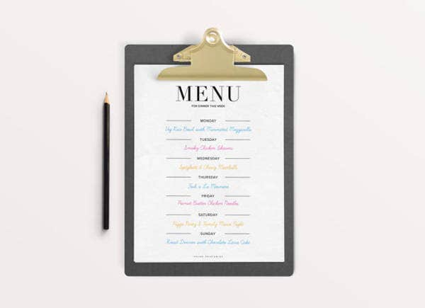 25 party menu psd free premium templates for Party menu planner template