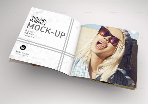 square format booklet mockup