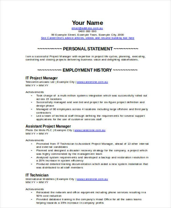 it project manager resume5