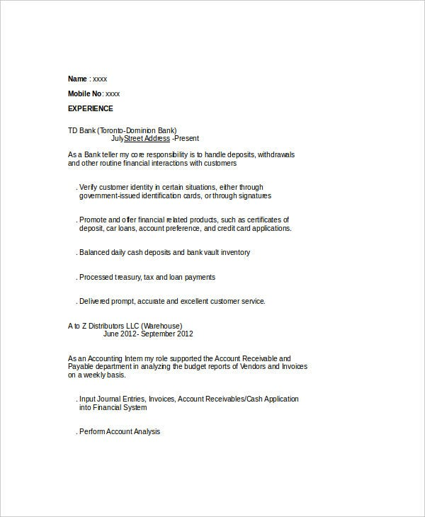 corporate finance internship resume2