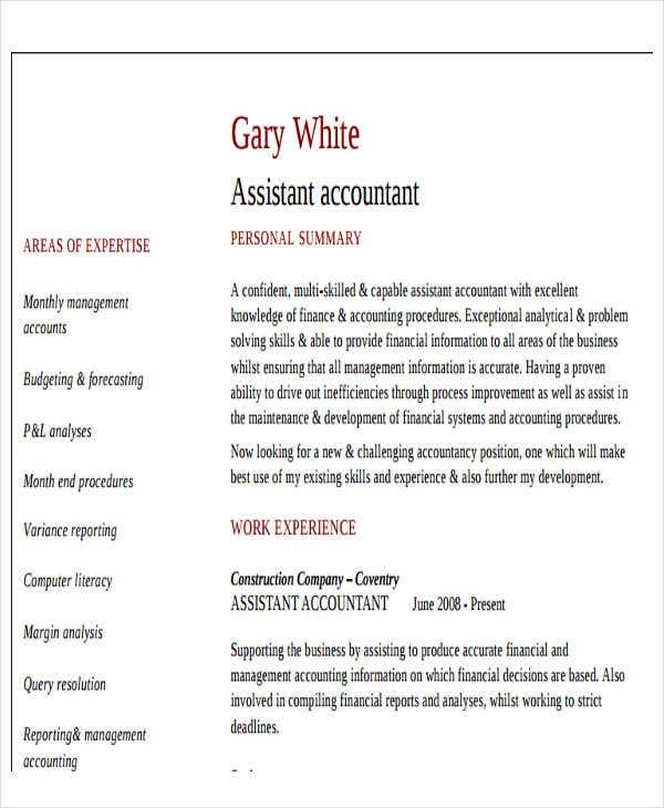 Sample Accountant Resume Cpa Resume Sample Template Accounting Accounting  Resume Skills Examples