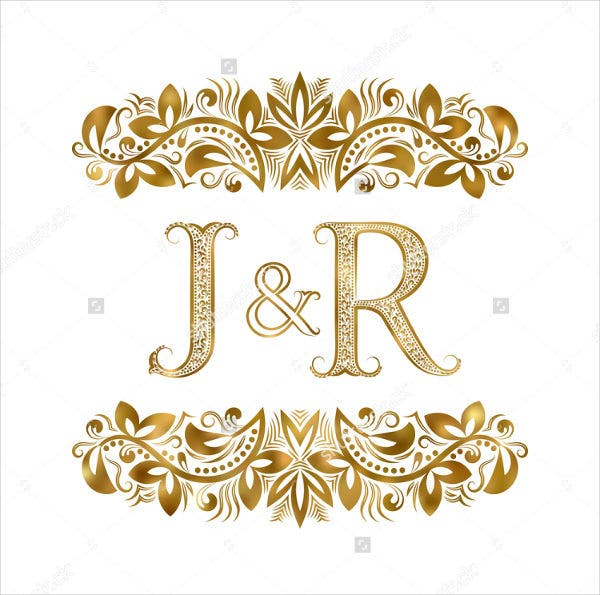 vintage-golden-wedding-logo