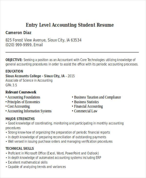 Team Lead Resume Excel  Accountant Resume Templates Download  Free  Premium Templates Resume Cover Leter Pdf with Resume Templates Pages Excel Entry Level Accounting Student Team Lead Resume Excel