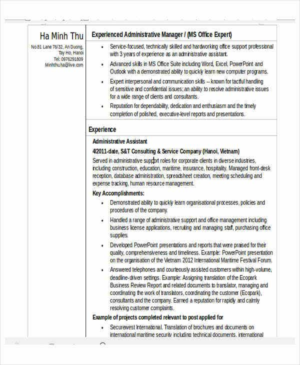 education administrative assistant resume4