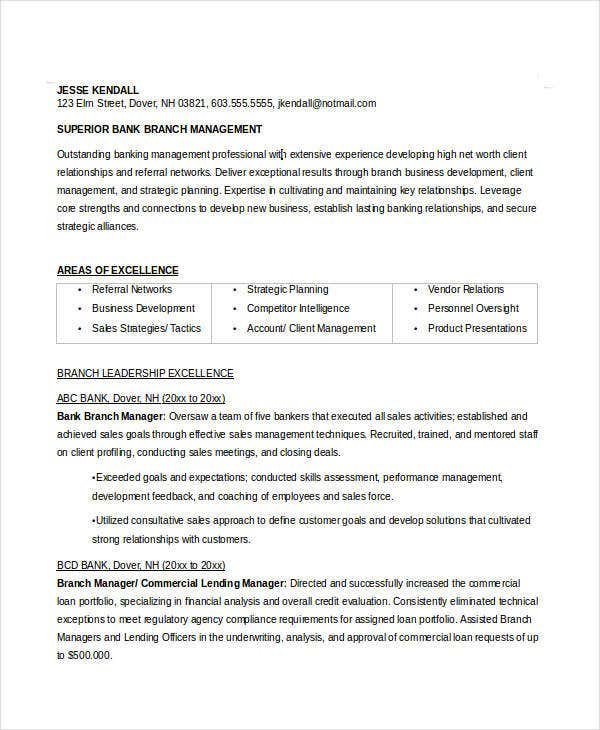Manager Resume Sample Template 48 Free Word Pdf