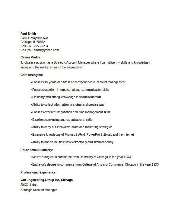 manager resume sle templates 43 free word pdf