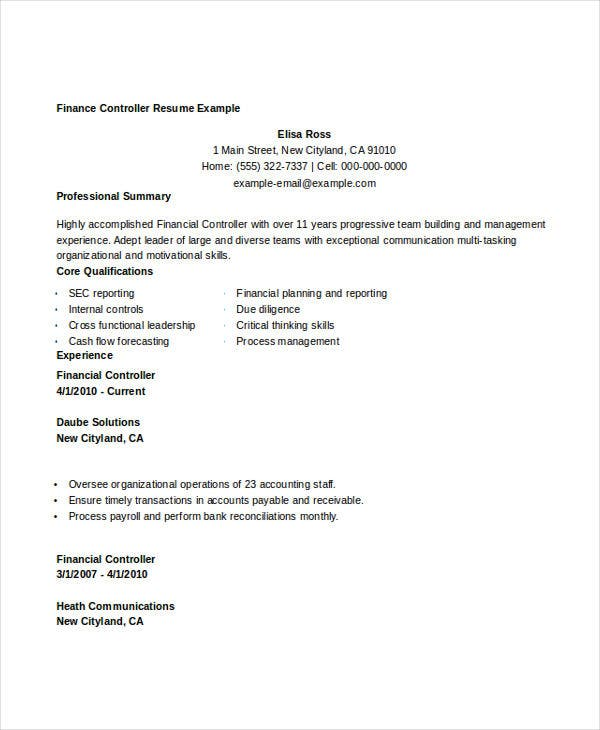 28  finance resume templates