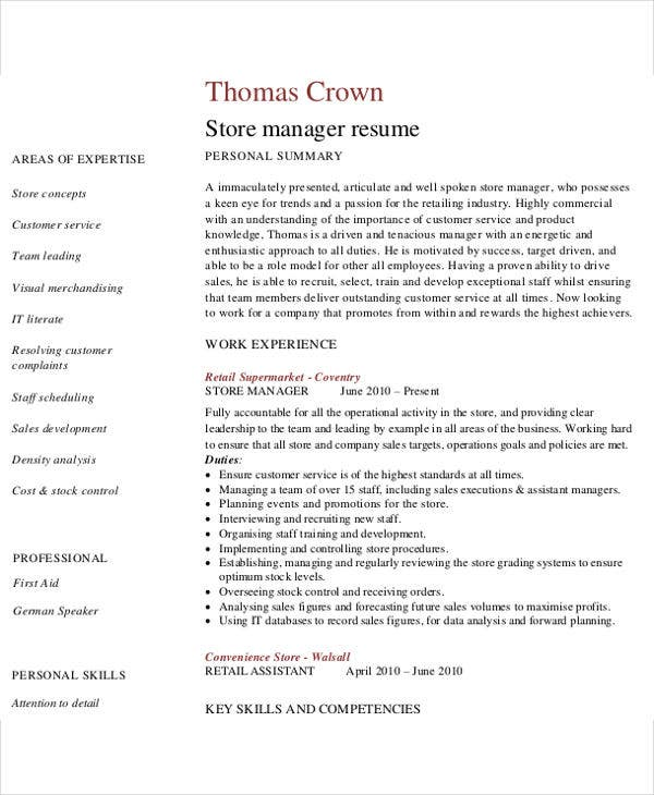 business development manager cv template dayjob