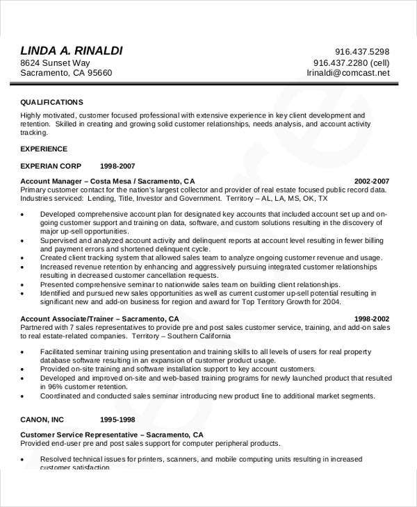 Manager Resumes In Pdf  Free  Premium Templates