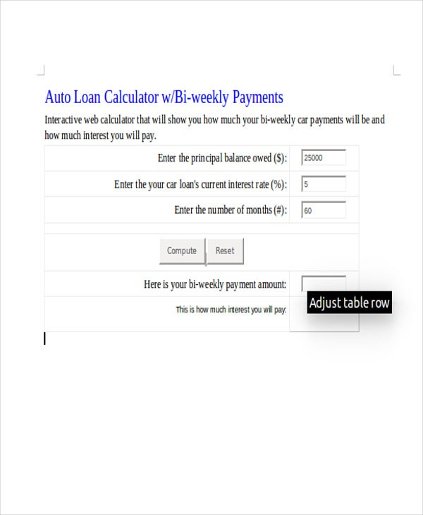 Car Loan Amortization Schedule  Free  Premium Templates