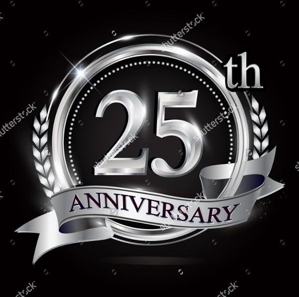 silver wedding anniversary logo