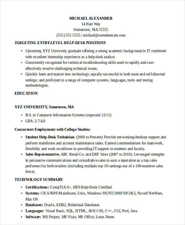 Resume Letter Of Reference