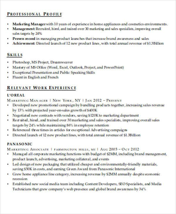 it marketing resume sample