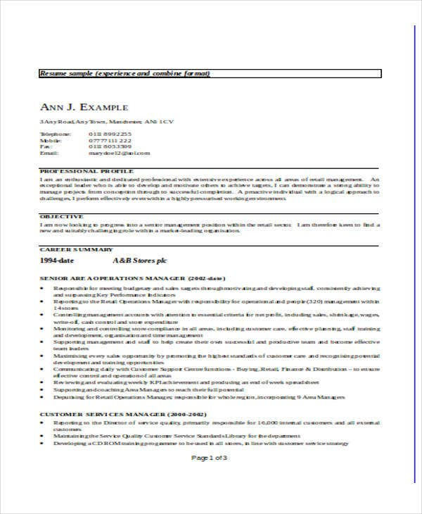sales training director resume