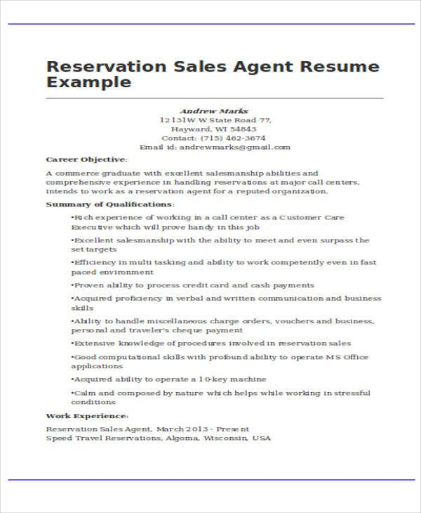 30  basic sales resume templates
