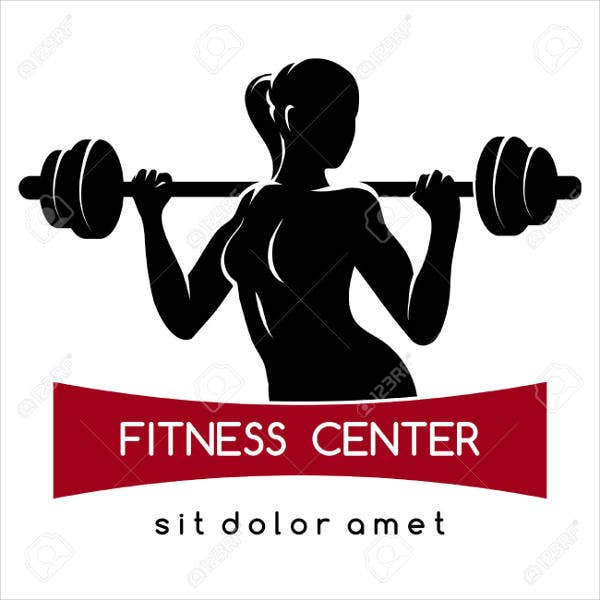 Female Fitness Workout Logo