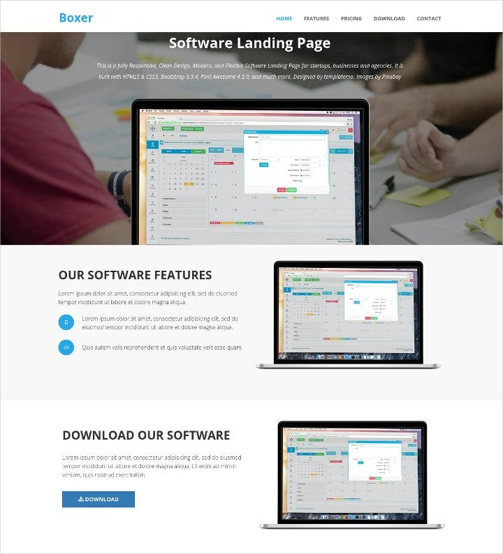 software-html-template