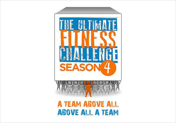 Fitness Gym Challenge Logo