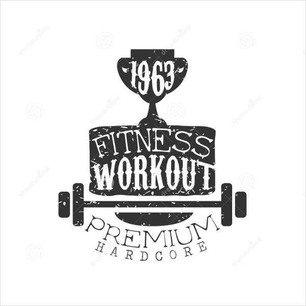Fitness Gym Product Logo