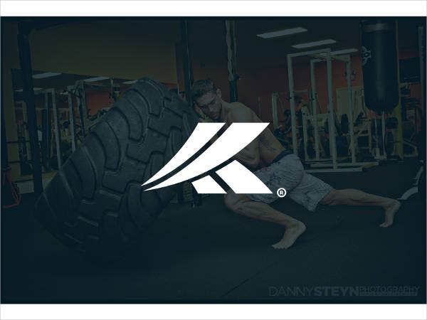 Modern Fitness Warrior Logo