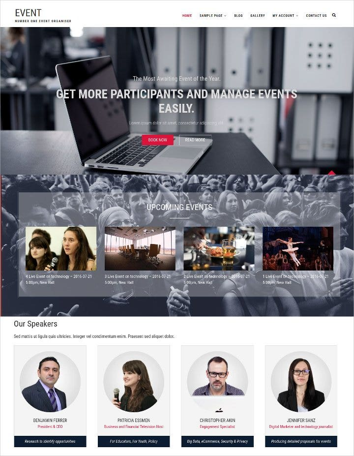 conference wordpress theme1