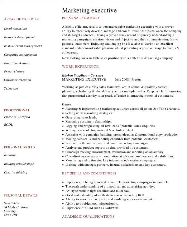 free executive resume templates 35 free word pdf