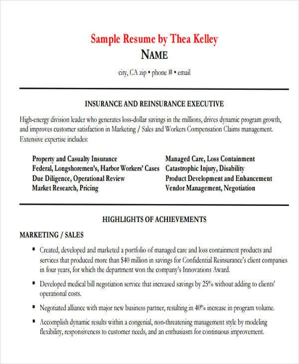 insurance sales executive resume2