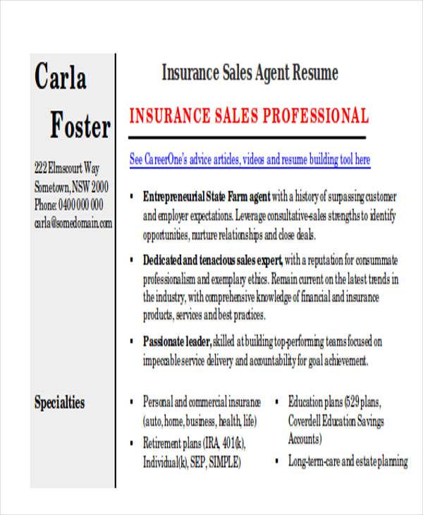 best sales resume