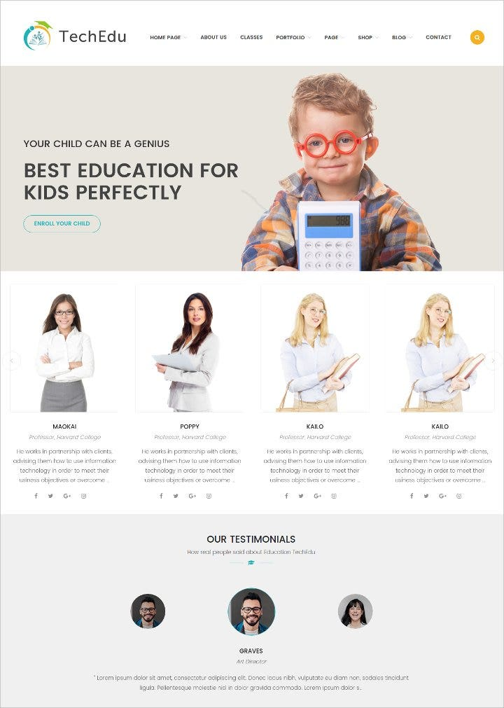 awesome-wordpress-theme-for-education