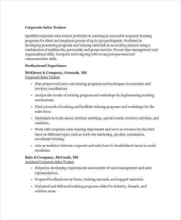 30  sales resume templates