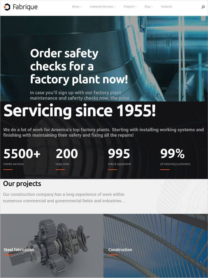 industrial-wordpress-theme