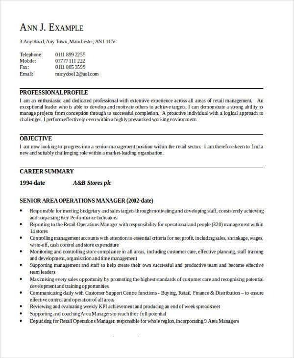 sales service manager resume