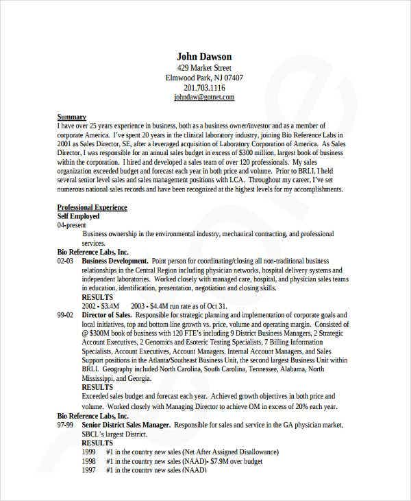 IT Sales Director Resume  It Sales Resume