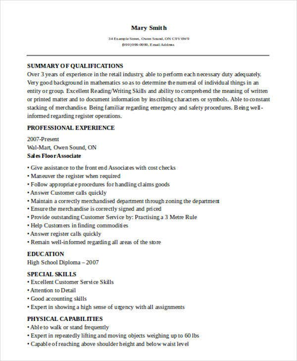 Resume Follow Up Pdf  Sales Resume Examples  Free  Premium Templates Customer Service Resume Sample Excel with Marketing Resume Examples Word Sales Floor Associate Resume Resume Templates In Word 2010 Excel