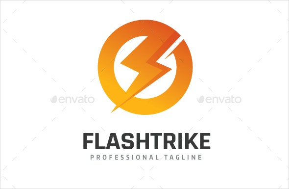 creative electrical strike logo