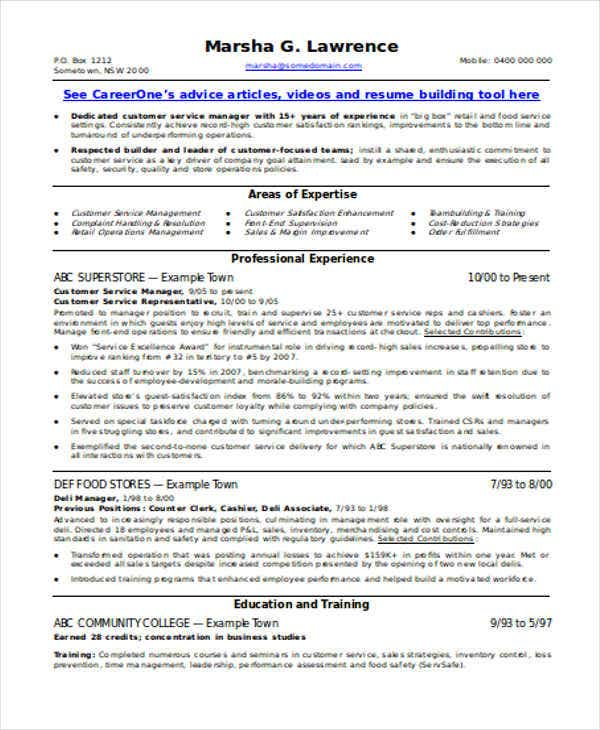 customer service manager resume. Resume Example. Resume CV Cover Letter