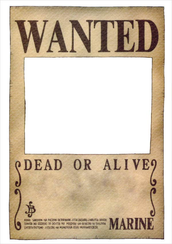 Blank Wanted Poster Template  Tims Printables