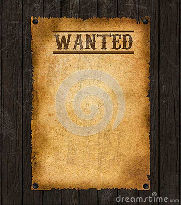 blank western wanted poster