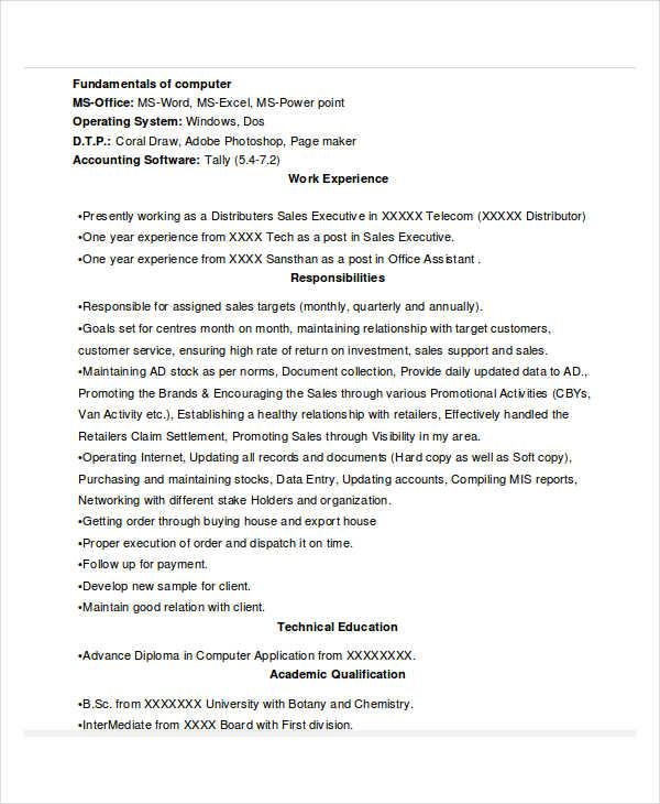 43 sales resume templates free premium templates