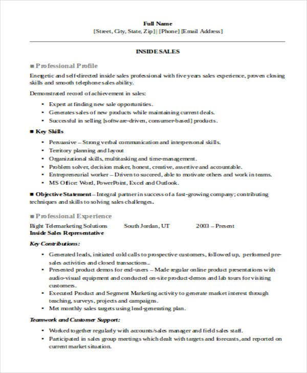 30  printable sales resume templates