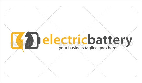 electrical battery logo design