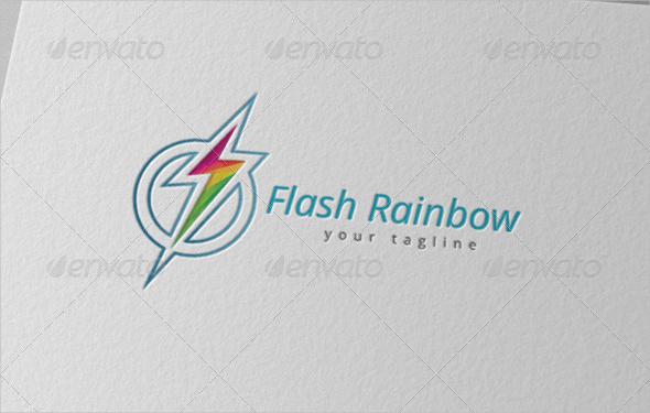Electrical Flash Rainbow Logo