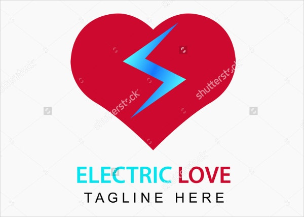 electrical flash love logo